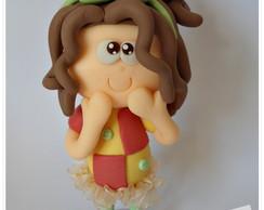 Topo de bolo Em�lia (sitio)