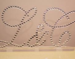 Monograma em Acr�lico - Topo de Bolo