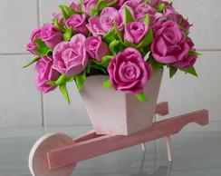Carriola com flores