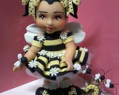 Topo de bolo abelhinha