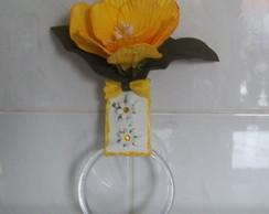 Porta Pano de Prato com Flor em Eva