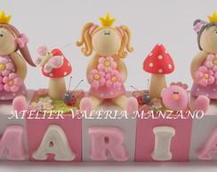 Topo De Bolo Bonecas Princesas