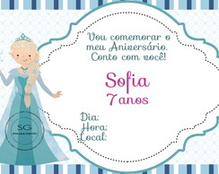 Convite Frozen 3
