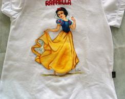 Camiseta Infantil Branca de Neve