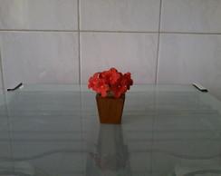 Mini vaso com flores