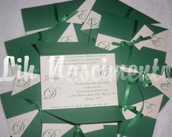 Convite de Casamento - Modelo DE (Verde)