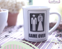 Caneca Porcelana Game Over