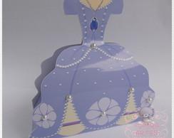 Caixinha Vestido Princesinha Sofia