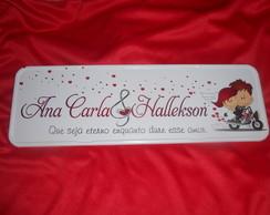 Placa Ana Carla e Hallekson