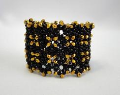Bracelete Preto e Dourado