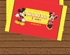 R�tulo Para Bisnaga - Mickey e Minnie