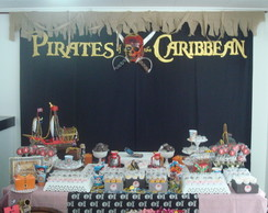 Decora��o de mesa tema Piratas do Caribe