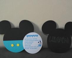 Convite Mickey Baby e Mickey