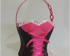 Caixinha Corpete Pink&Preto
