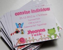 Kit 50 Convites Individuais