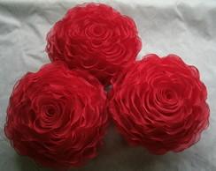 Capa de almofada em formato de rosa