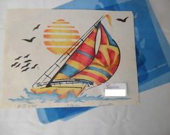 Molde vazado para pintura em tecido
