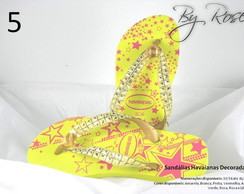Sand�lia Havaiana bordada e customizadas