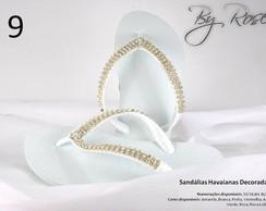 Sand�lia havaiana bordada e customizadas