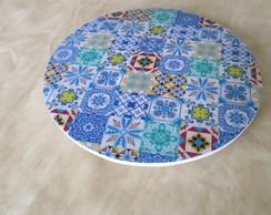 Prato girat�rio mosaico de azulejo