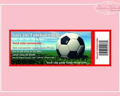 Kit Convites Futebol - 20 Unidades