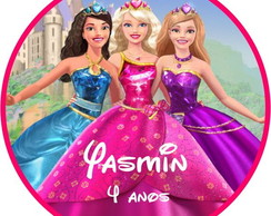 R�tulo  Barbie Escola de Princesas