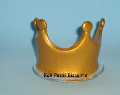 topo de bolo mini coroa em biscuit