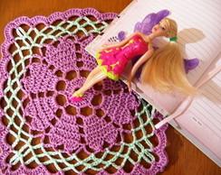 Toalhinha em crochet Cora��es