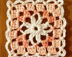 Square em crochet