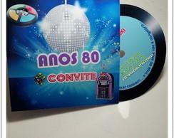Convite Vinil anos 80