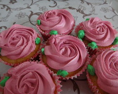 Cupcake bot�o de rosas