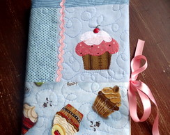 Capa p/caderno de receitas de patchwork