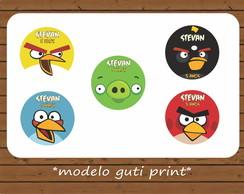 R�tulo Latinha - Angry Birds