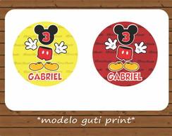 R�tulo Latinha - Mickey