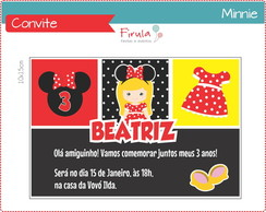 Convite Digital Minnie Vermelha