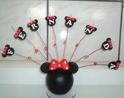 Topo de bolo Minnie e Mickey.