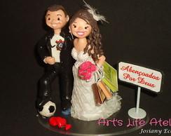 Topo de Bolo de Casamento Personalizado