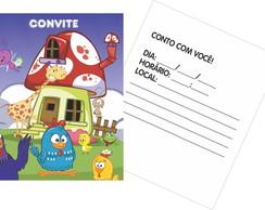 30 Convites Galinha Pintadinha - Papel G