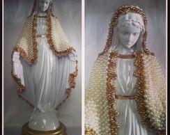 Nossa Senhora das Gra�as em p�rolas
