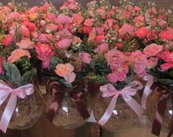 Arranjo Mini Flores rosa IV