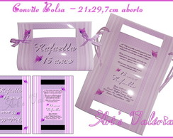 Convite Bolsa - 20x29cm aberto