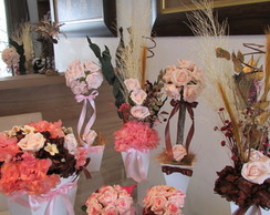 Conjunto para festas rosa & marrom X