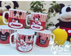 Caneca Pl�stica Mickey Minnie