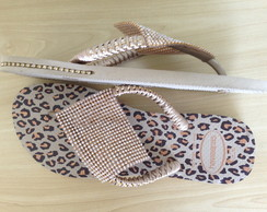 Havaianas Animal Print + Manta de Strass