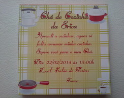 Convite Ch� de Cozinha em Bloco de Notas