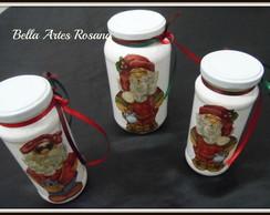 Trio de vidros Papai Noel VENDIDO
