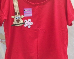 Blusa com Patch Aplique de Girafa