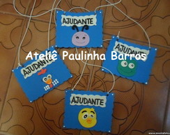 4 Crach�s Ajudante do dia