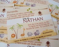 Convite Ch� De Beb� - Floresta Baby