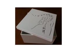 Caixa de noivos strass  20 x 20 x 10